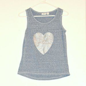 Girls Glitter Heart Tank Top